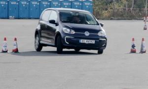 Vidar Gulliksen fra Eidsvoll kjørte svært friskt i sin Volkswagen e-up! Det holdt til andreplass. (Foto: Ståle Frydenlund)